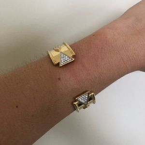 House of Harlow 1960 Gold Cuff Bracelet